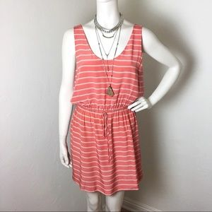 Joie Coral Silk Dress with Drawstring M